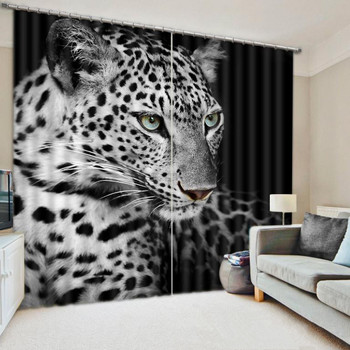 3D Animal Curtains Bedding Room Living Room or Hotel Drapes Tiger Cortians Thick Sunshade Window Curtains