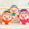 Juguetes de peluche muñecos de boda pequeña muñeca, cerdo lindo de la fuerza aérea piloto, regalos creativos, regalos de la navidad