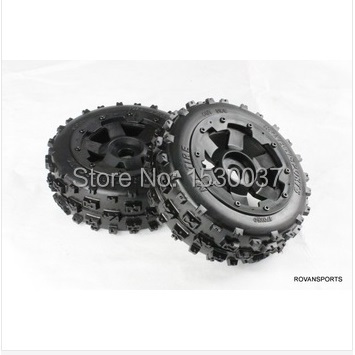 1/5 RC KM HPI BAJA 5B Off road race Buggy Front Tire & Wheel set baja 5b off road front wheels set only 2pc front