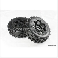 Off road race Buggy Front Tire Wheel set for 1/5 hpi rovan km baja 5b rc car parts