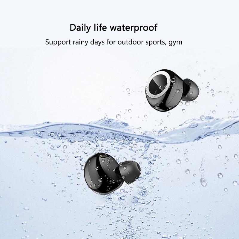 TWS Wireless Bluetooth Earphone Waterproof Sport Headphone 5.0 with Charging Box Touch control Earphones Build-in Mic Headphones