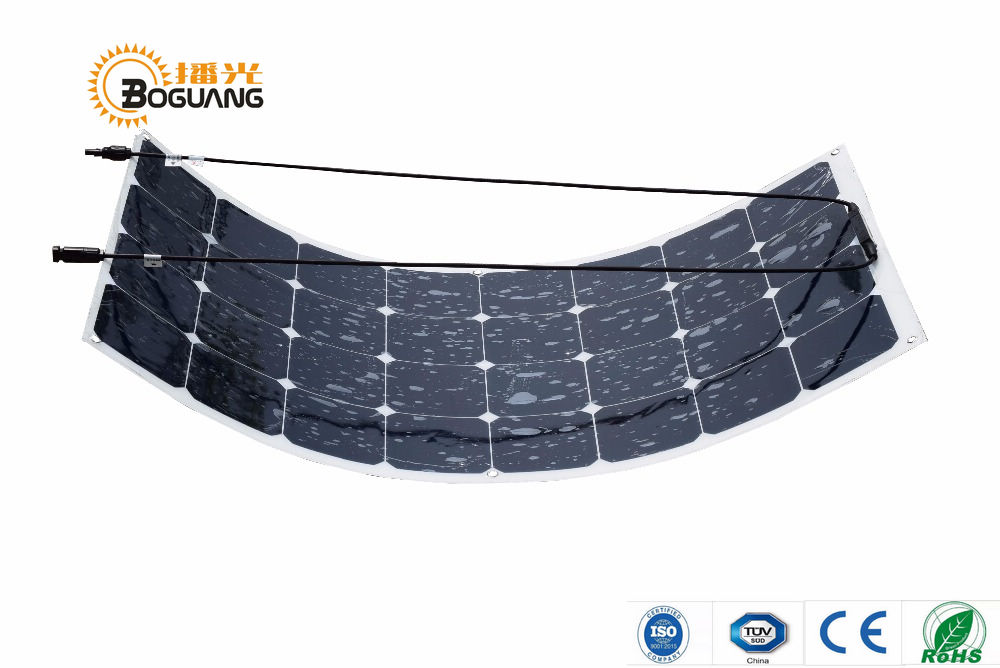 Solarparts 1PCS Free Shipment 100W Flexible Solar Panel 12V Solar Cell Module System RV Car Marine