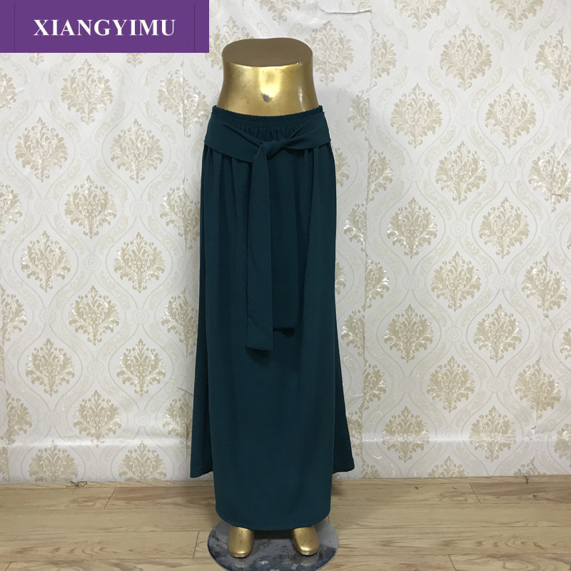 023 New 2019 Autumn And Winter High Waisted Female Woven Solid Skirt