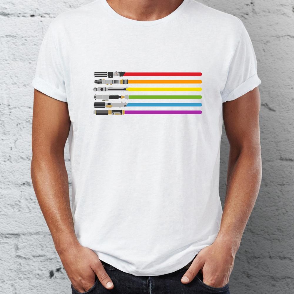 Men's T Shirt Saber Pride Lightsaber Star Wars GLB...