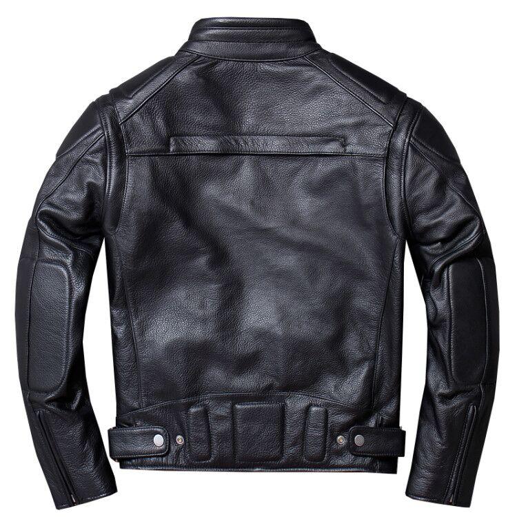 Vintage Genuine Leather Jacket Men Black Pilot Air Force Flight Motorcycle Biker Real Cow Jackets Coats Plus Size 4XL Jaqueta