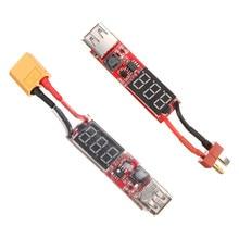 Hot New 2S 6S Lipo Battery to USB Power Converter Adapter Digital Display 5V 1A XT60