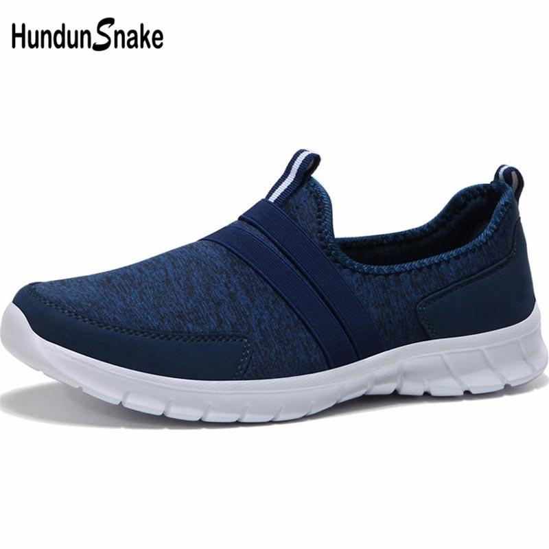 Hundunsnake Big Size Men Sport Shoes Sports Men Running Shoe Men's Sneakers Women Summer Sapatenis Male Blue Footwear Walk B-042