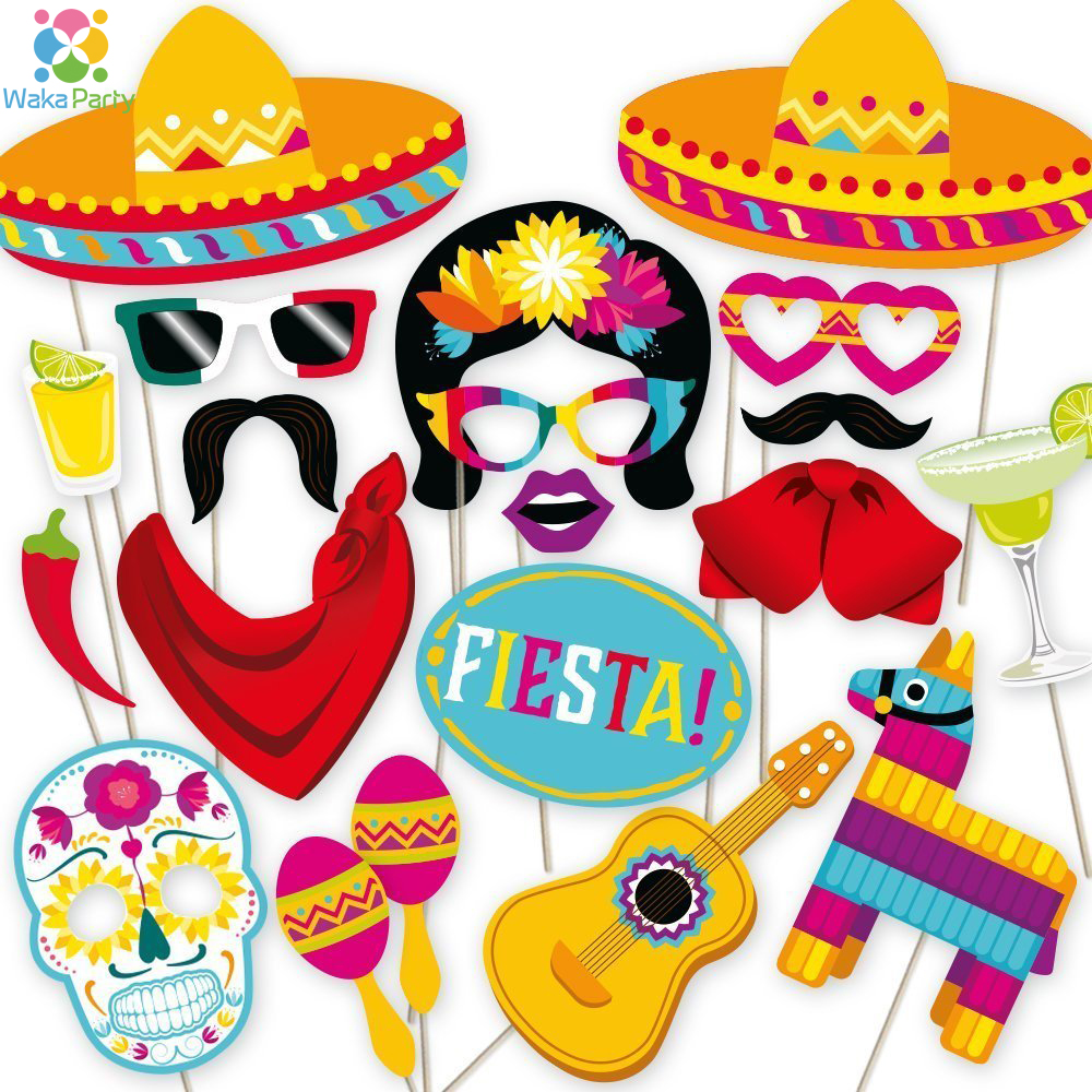 mexican fiesta photo booth props cinco de mayo party. Black Bedroom Furniture Sets. Home Design Ideas