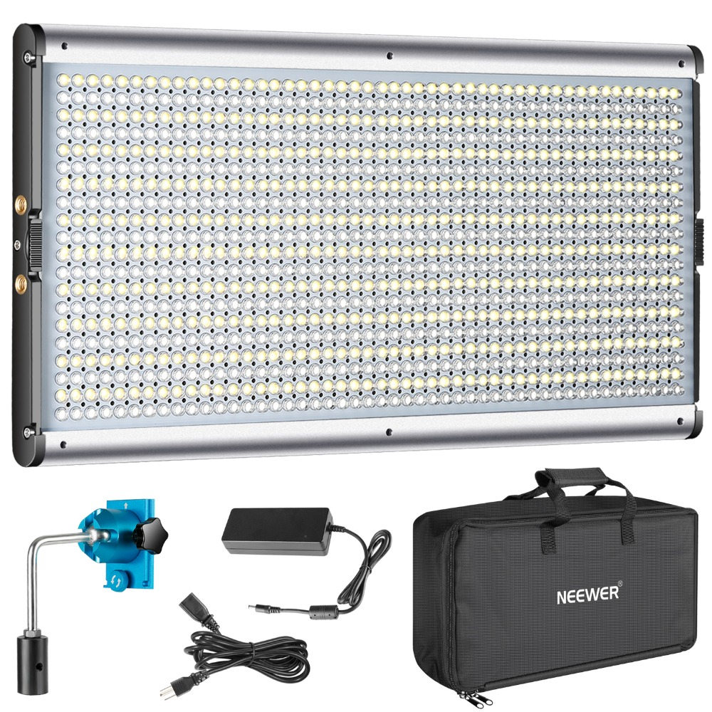 Neewer Bi-color 960 LED Dimmable with Professional Video Light for Studio/YouTube Outdoor Photography Lighting KitNeewer Bi-color 960 LED Dimmable with Professional Video Light for Studio/YouTube Outdoor Photography Lighting Kit