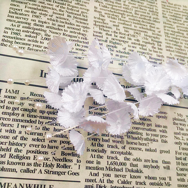 10 PCS (29 cm/flower) simulation of artificial silk flowers/pearl wedding decoration DIY bride hair accessory material supplies