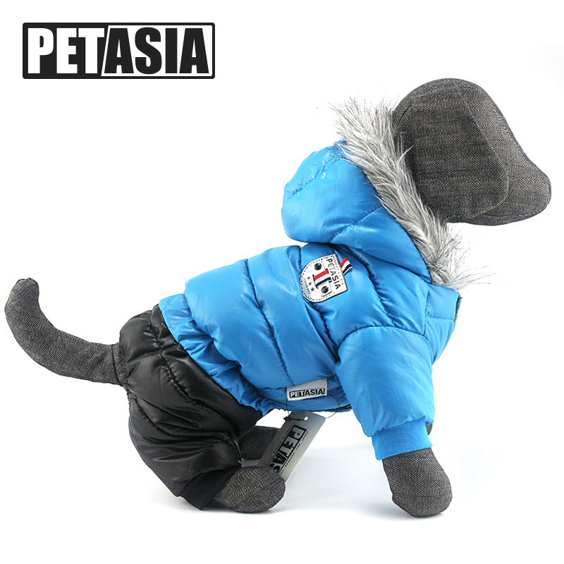 Winter Dog Clothes Super Warm Pet Dogs Overalls Waterproof Coat Jacket Jumpsuit Puppy For Chihuahuas Small Large Dogs PETASIA