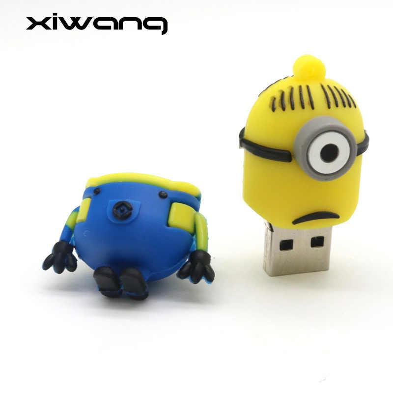 Funny Minions Usb Flash Drive  8GB 16GB 32GB 64GB 128GB Cartoon Pen Drive Memory Stick Pendrive USB 2.0 Best Gift