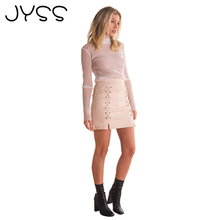 JYSS New arrival Fashion Mini high waist short skirt with wire decoration Above Knee summer black short skirt for women 80860