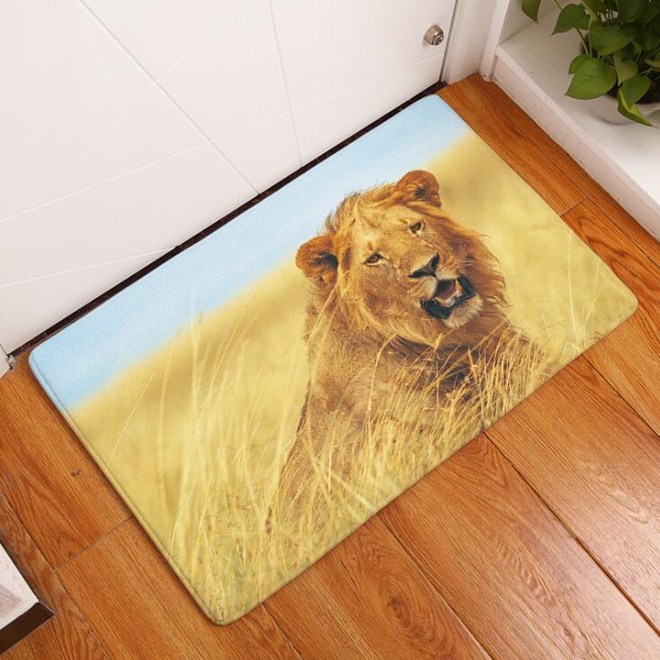 Teppich Tiger Printed Suede Bodenmatte Dekoration Küche Outdoor Fußmatte Bad  Teppich 40x60 Cm Badematte Wc Teppiche In Teppich Tiger Printed Suede ...