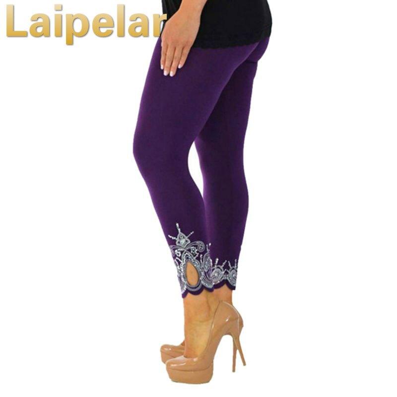 Laipelar 2018 New Fashion Spring Floral Print Sexy Leggins Women High Quality Elastic Slim Bottoms Pants Plus Size
