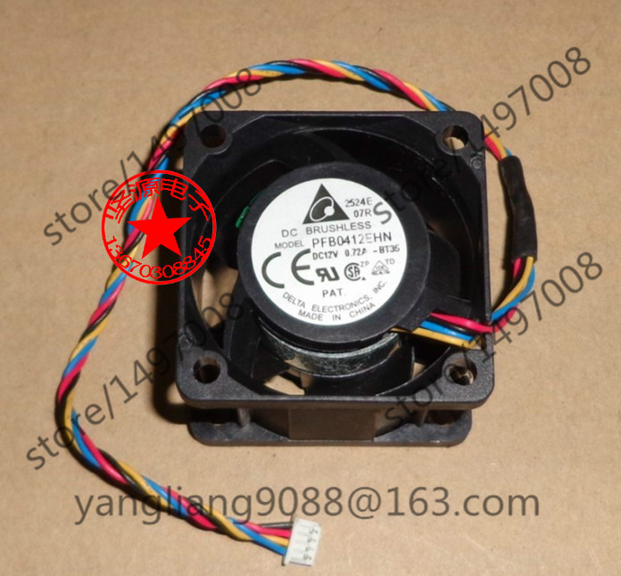 купить  Free Shipping For DELTA PFB0412EHN, -BT36 DC 12V 0.72A 4-wire 4-Pin connector 60mm 40x40x28mm Server Square Cooling fan  онлайн