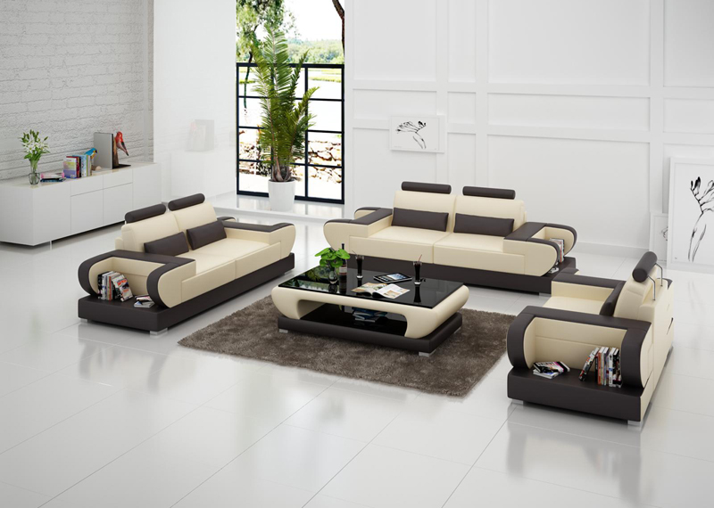 US $1350.0 |Modular Design Sectional Living Room Furniture Leather Sofa Set  G8003D-in Living Room Sets from Furniture on AliExpress