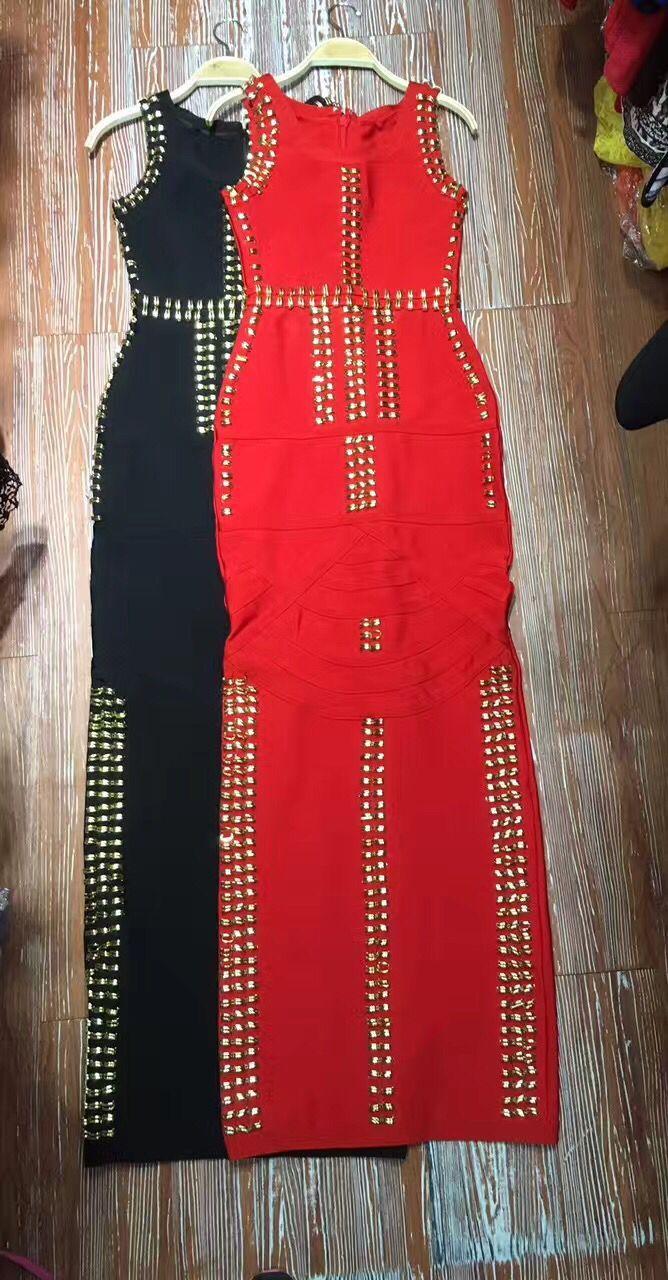 Sans Rouge Party Haute Celebrity Moulante Noir Long Dress Manches Soirée Qualité Sexy rFPnFat