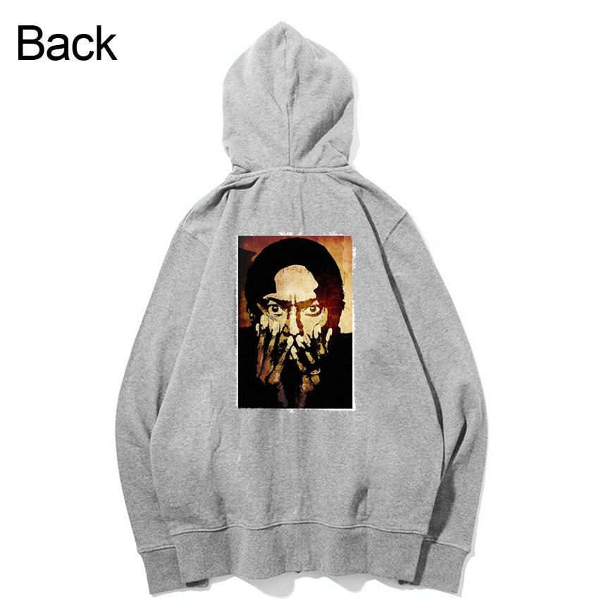 miles davis jazz fashion patchwork design sweatshirts zipper Hoodies outwear