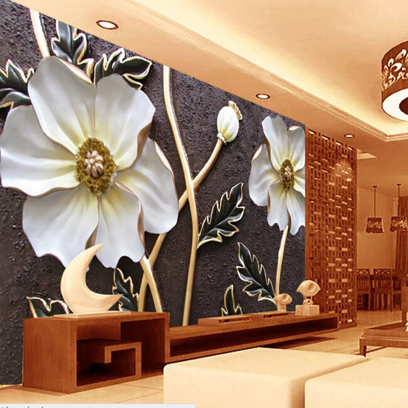 beibehang Custom wallpaper for walls 3 d,embossed flower murals for the bedroom living room TV wall waterproof vinyl papel DE wallpaper for walls 3 d modern trdimensional geometry 4d tv background wall paper roll silver gray wallpapers for living room