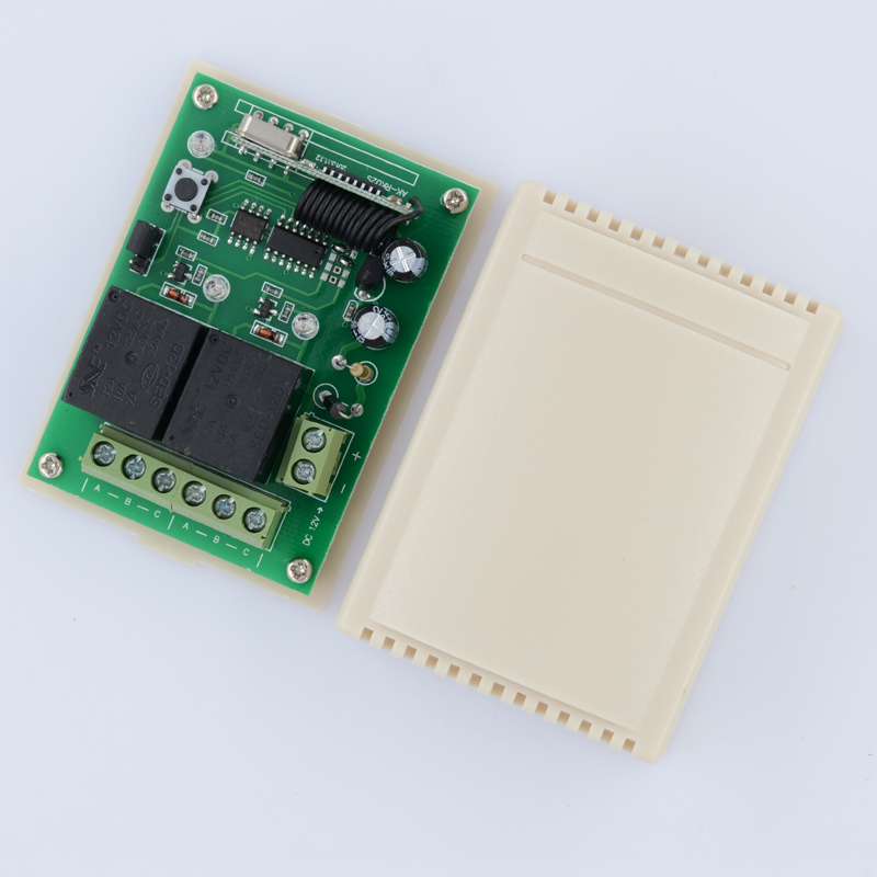 DC 12V 2CH RF Wireless Remote Control Light Switch Mini 2channel independent Relay Work Model For Momentary Toggle Latched dc12v 2ch 3transmitter 1receiver remote control light on off switch 315 433mhz momentary toggle latched 2 relay indicator
