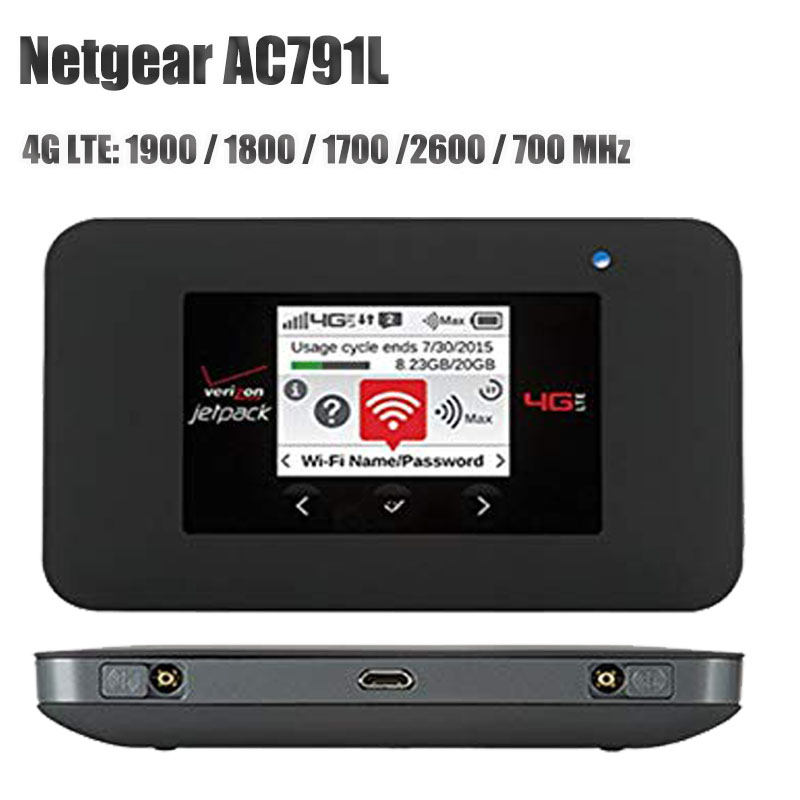 Unlocked Netgear AC791 Aircard 791L Verizon Jetpack 4G LTE Mobile Hotspot AC791L LTE Cat6 With 4340mah Battery Band 2/3/4/7/13 W