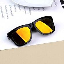 Colorful mercury reflective lens children sunglasses oculos feminino redondo men and women baby anti-UV personality sunglasses