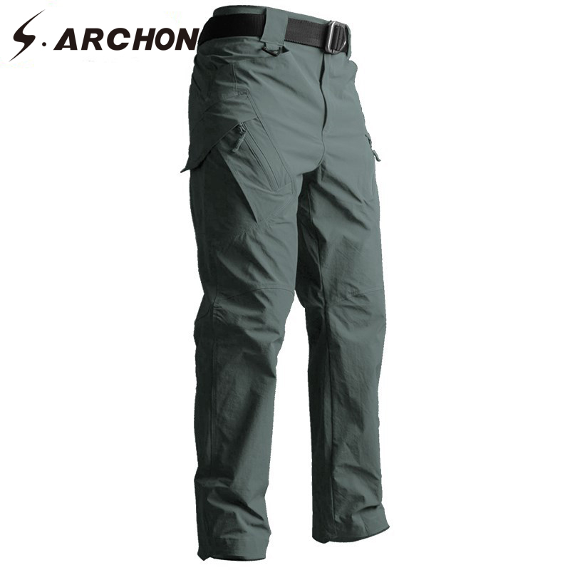 S.ARCHON IX9 Tactical Style Pants Autumn Military Army SWAT Combat Cargo Pants Men Casual Quick Dry 3 colors Solid Trousers(China)