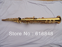 Wholesale– one tube Golden soprano saxophone in B flat the F, G, hand-carved