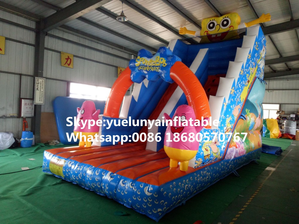 Factory direct inflatable castle slides large obstacles Animal  slide castle combination SpongeBob Slide  KY-704 factory direct inflatable castle slide small household slides inflatable slides cn 046