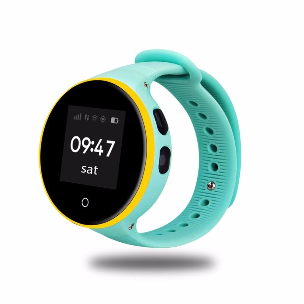 ZGPAX ребенок GPS Смарт часы с 1.22 IPS круглый Экран дети SmartWatch SOS вызова расположение для малыша безопасный