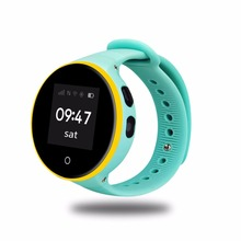 Получить скидку ZGPAX ребенок GPS Смарт часы с 1.22 «IPS круглый Экран дети SmartWatch SOS вызова расположение для малыша безопасный