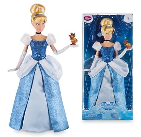 DISNEY Store Animated cartoon Cinderella Classic princess Doll with Gus Figure 12