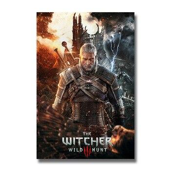 Плакат гобелен Ведьмак 3 Шелк вариант 4