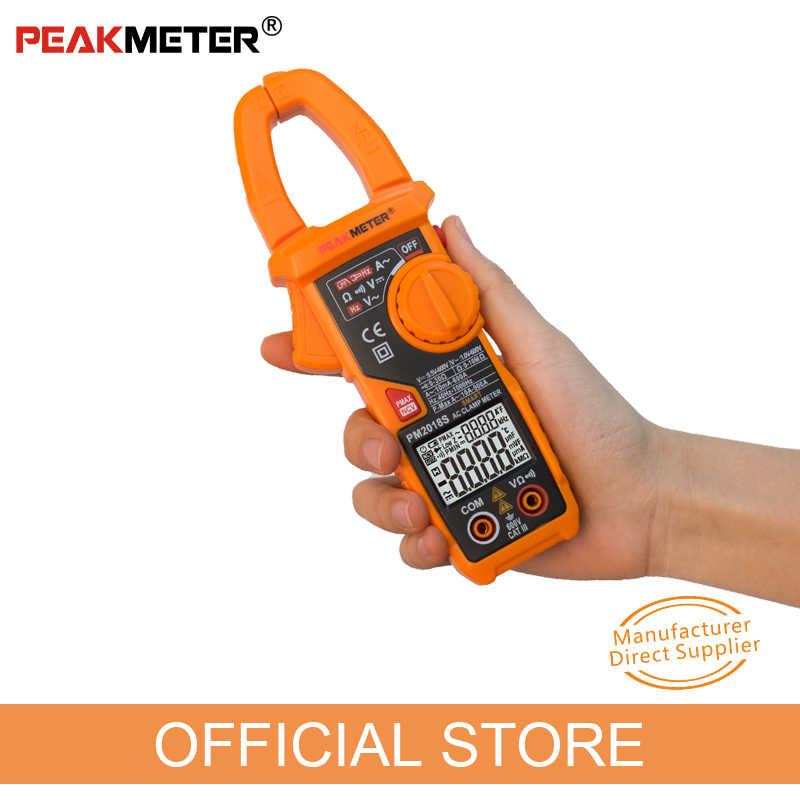 Smart Clamp Meter Peakmeter PM2018S Portable Digital Multimeter AC Tegangan Arus Perlawanan Kontinuitas Pengukuran Tester