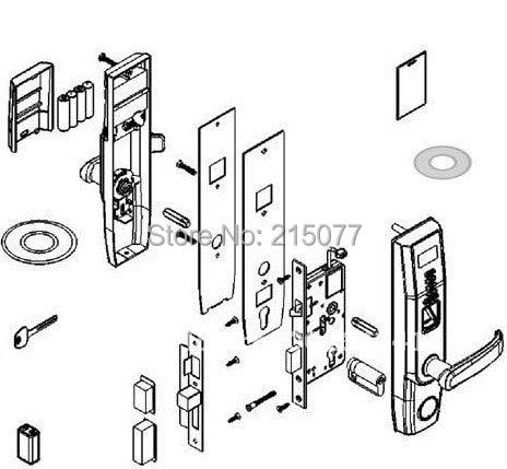 Intelligence Premium Biometric Fingerprint And Password Key Door