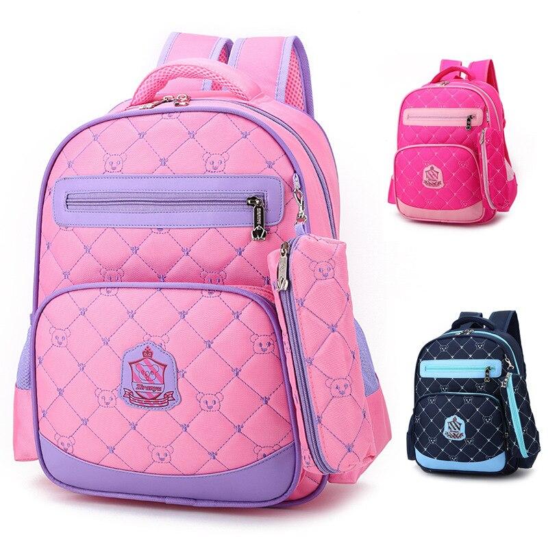 2016 New Children School Bags For Girls Kids Schoolbag Cartoon Kids School Backpacks PInk Double Shoulder Mochila Infantil