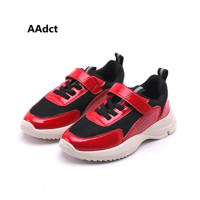 AAdct 2018 running sports Boys shoes spring autumn new Girls shoes sneakers Brand Mesh breathing children shoes