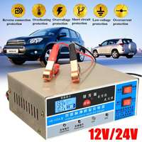 Car Battery Charger 12V 24V 200AH Electric Auto Car Battery Charger Intelligent Pulse Repair Type Battery