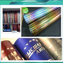 Color dorado Hot stamping foil papel láser, láser de papel de aluminio, cuero, caja de cigarrillo, caja del teléfono móvil máquina de sellado de papel de aluminio