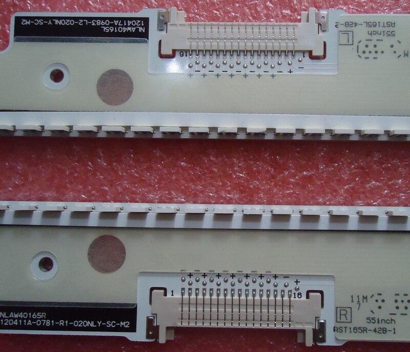 FOR Panasonic TH-L55DT50C Article lamp AST165L-42B-2 screen VVX55F130B20 1piece=113LED 683MM for tcl l40f3200b article lamp 40 down lj64 03029a lta400hm13 screen 1piece 60led 455mm 2pieces lot