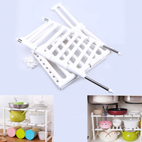 Stainless Steel Plastic Microwave Oven Shelf Rack Adjustable Standing Double Layer Kitchen Storage Holders Borden Standaard