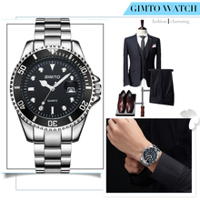 2016 Top Brand Men Sports Quartz Watch Clock Big Dial Black Male Business Watches Stainless Steel