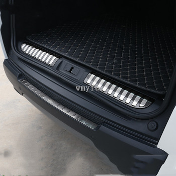 Per Land Rover Range Rover Sport 2014 2015 2016 2017 PARAURTI POSTERIORE DELLA PROTEZIONE DEL PASSO del PANNELLO di AVVIO DELLA COPERTURA DEL DAVANZALE PIATTO TRUNK TRIM ACCESSO