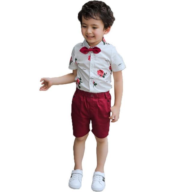 2ef92056b 2018 boys clothes sets summer gentleman suits kids Outfits short ...