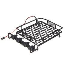 Roof Luggage Rack RC 1/10 LED Light Durable For Wrangler Tamiya CC01 CR01 SCX10  Car Styling