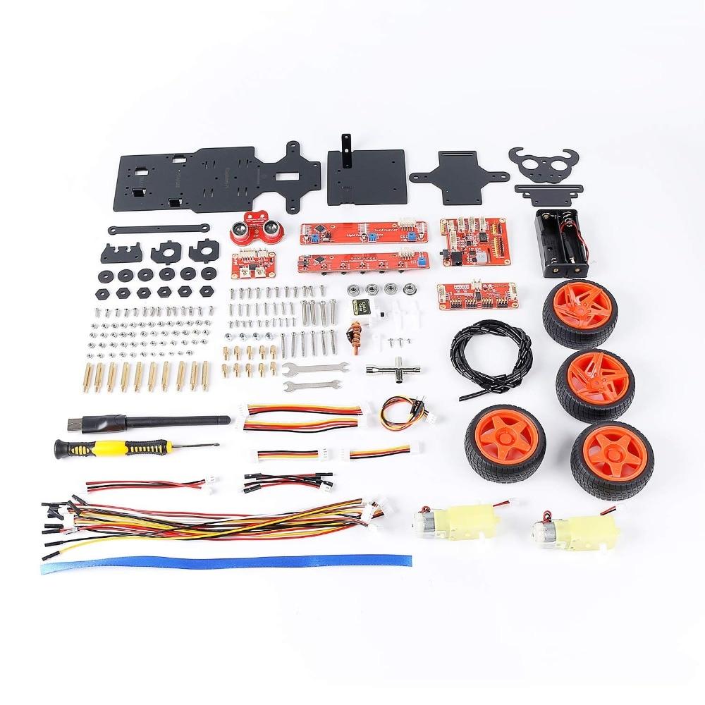 Image 5 - SunFounder Raspberry Pi 4B/3B/3B+ Smart Robot Car Kit PiCar S Line Following Ultrasonic Sensor Light Following Module Robot Kit-in Demo Board from Computer & Office