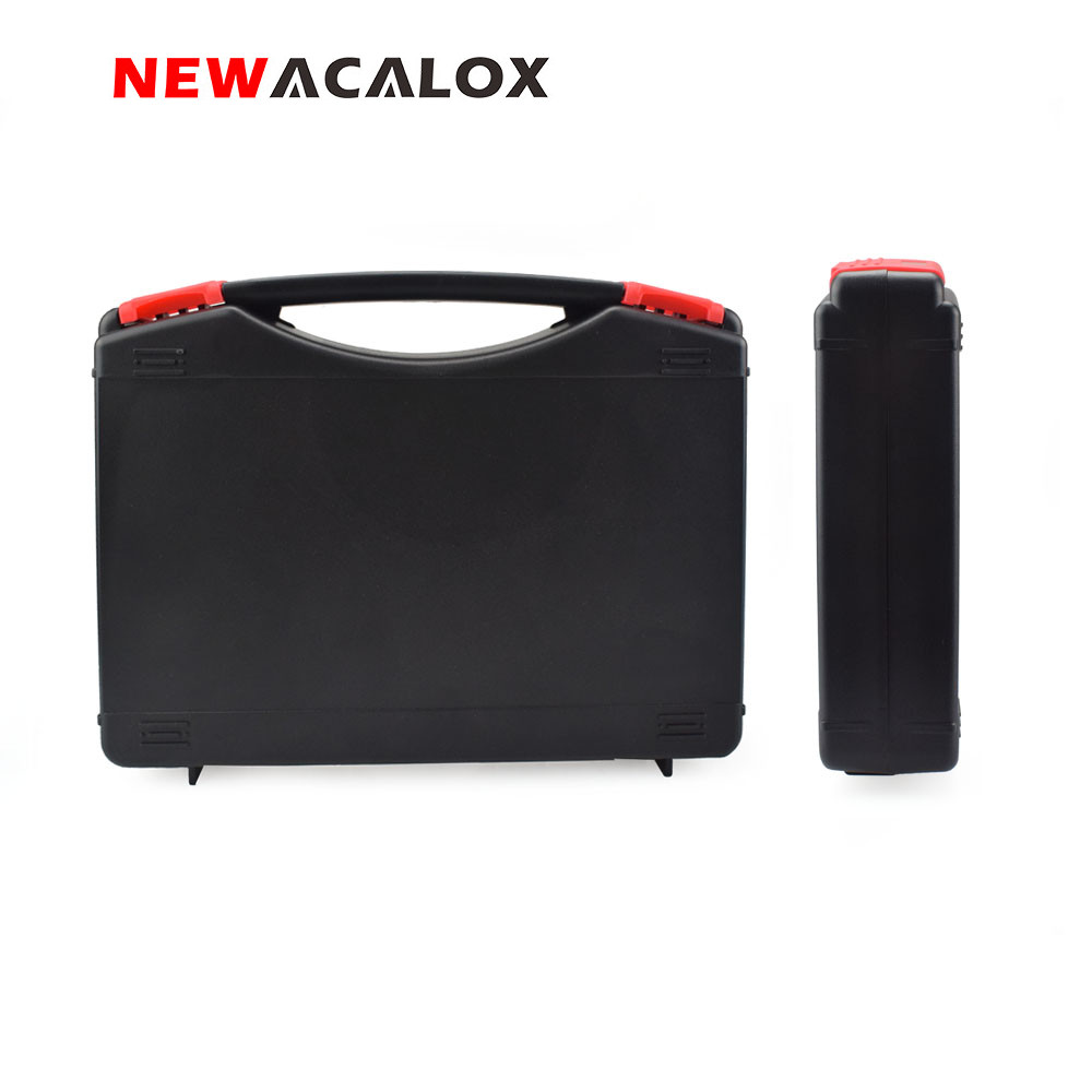 NEWACALOX Portable Plastic Storage Case With Sponge Mats Protecting Tools Multi-function Repair Tool Box For Hardware Tools