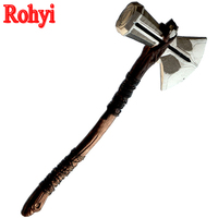 Rohyi New Vintage Thor Hammer Marvel Movie The Avengers 3 Thor Hammer Anime Cosplay PVC Action Figure Toys 73cm Child Gift