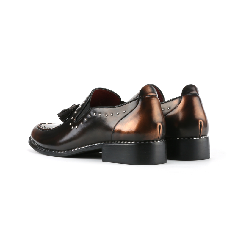 ff2adeffd7 US $26.63 15% OFF|WolfWho Men Loafers Leather Men Rivets Dress Shoes  Zapatillas Zapatos Hombre Sapatos Homens Driving Mocassin Wedding Party  Shoes-in ...